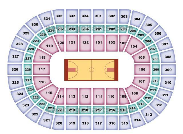 Chicago Bulls Seating Chart for United Center
